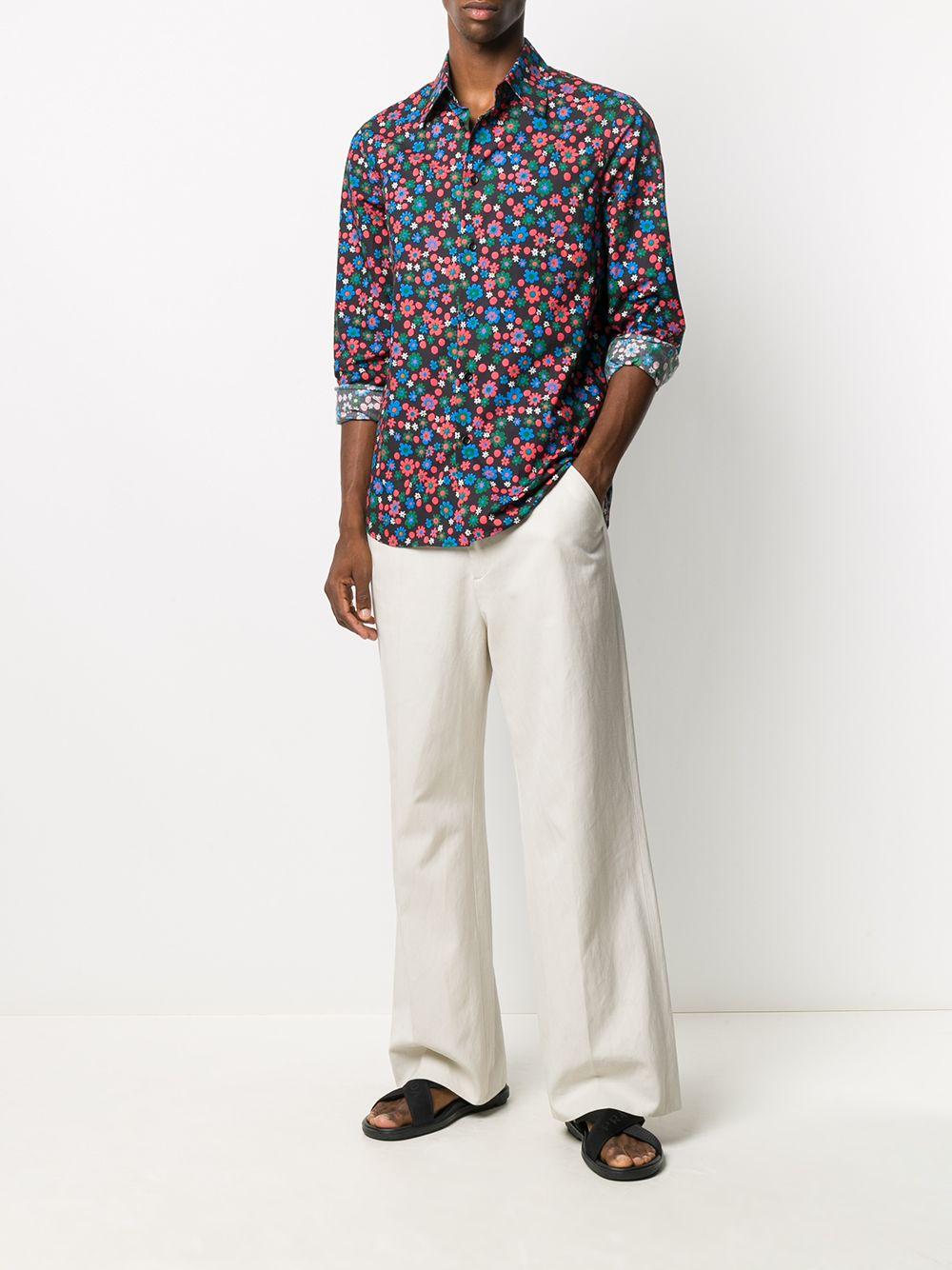 Marni camicia a fiori uomo MARNI | Camicie | CUMU0024A0 S53670CON99