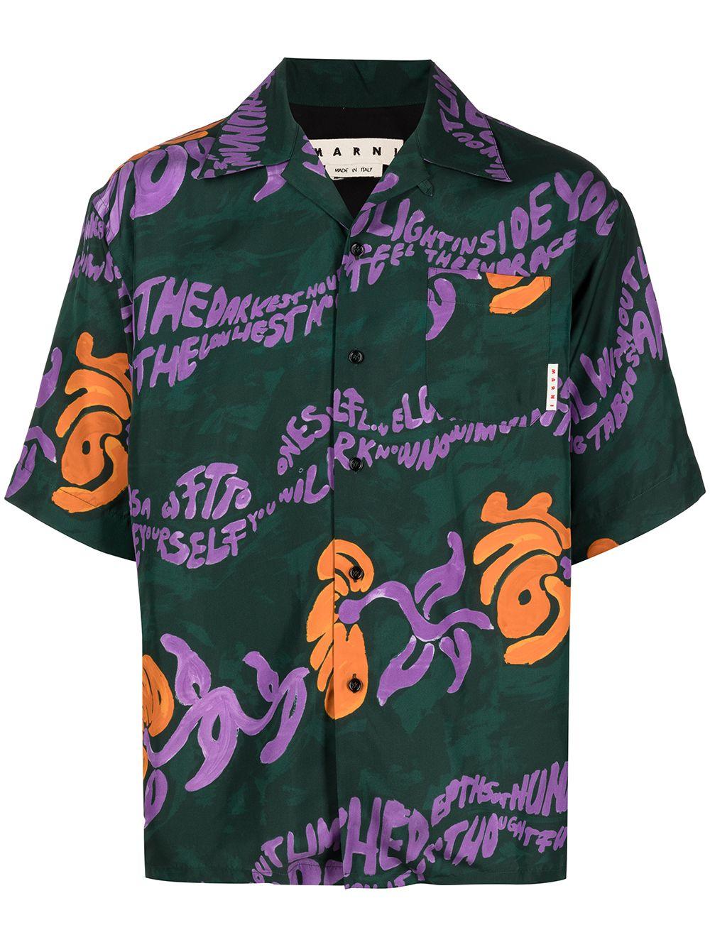 Marni camicia con stampa uomo multicolore MARNI   Camicie   CUMU0213A0 S53973FSV60