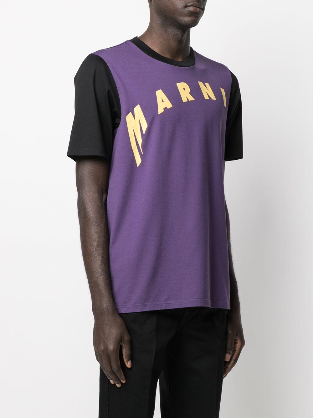 T-Shirt Con Logo Uomo MARNI | T-shirt | HUMU0200PQ S23727Y4422