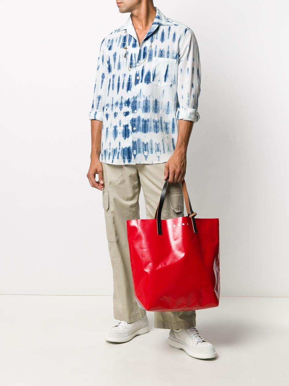 shopper in pvc unisex rossa MARNI | Borse | SHMQ0000A3 P3572Z2M82