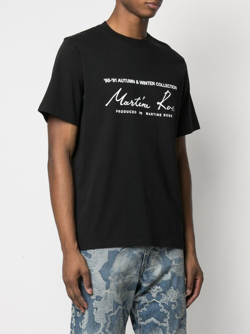 Martine Rose print logo t-shirt man black MARTINE ROSE | T-shirts | MR603JMR009
