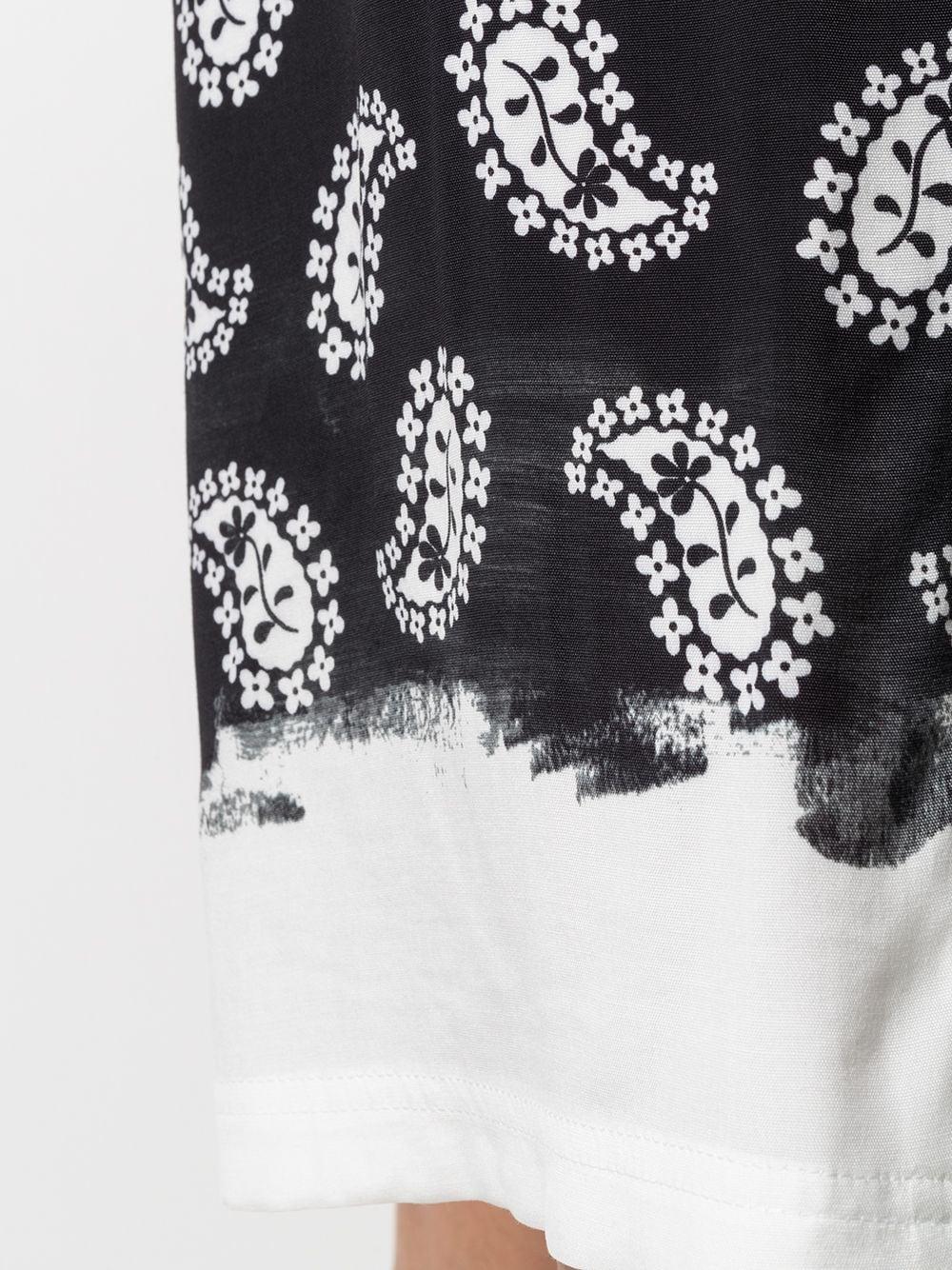 paisley print knee lenght shorts man black  MSGM | Shorts | 3040MB02A 21701399