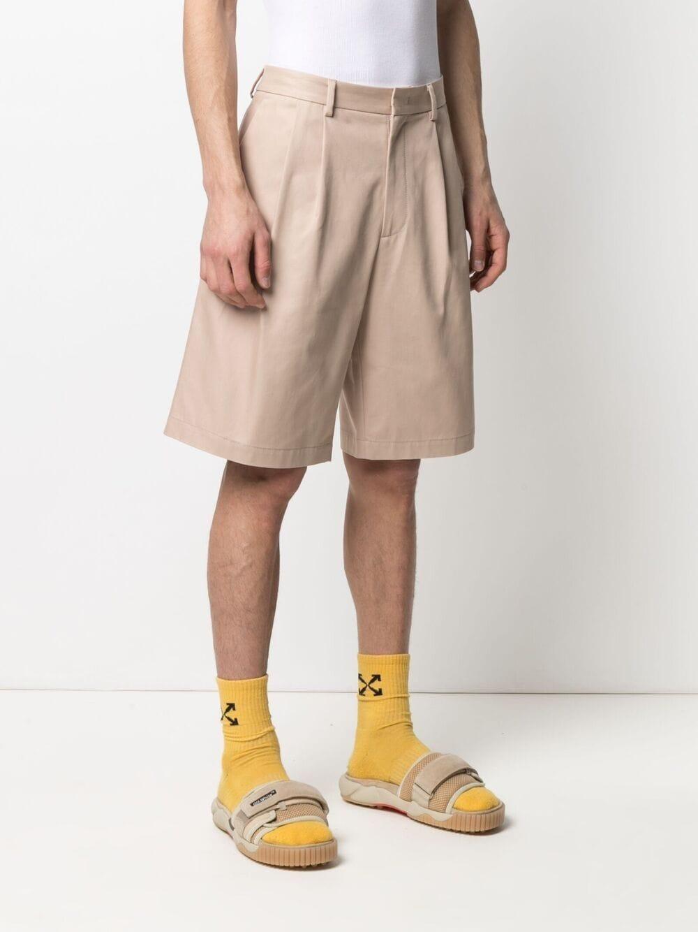 bermuda in cotone uomo beige MSGM | Bermuda | 3040MB08 21710523