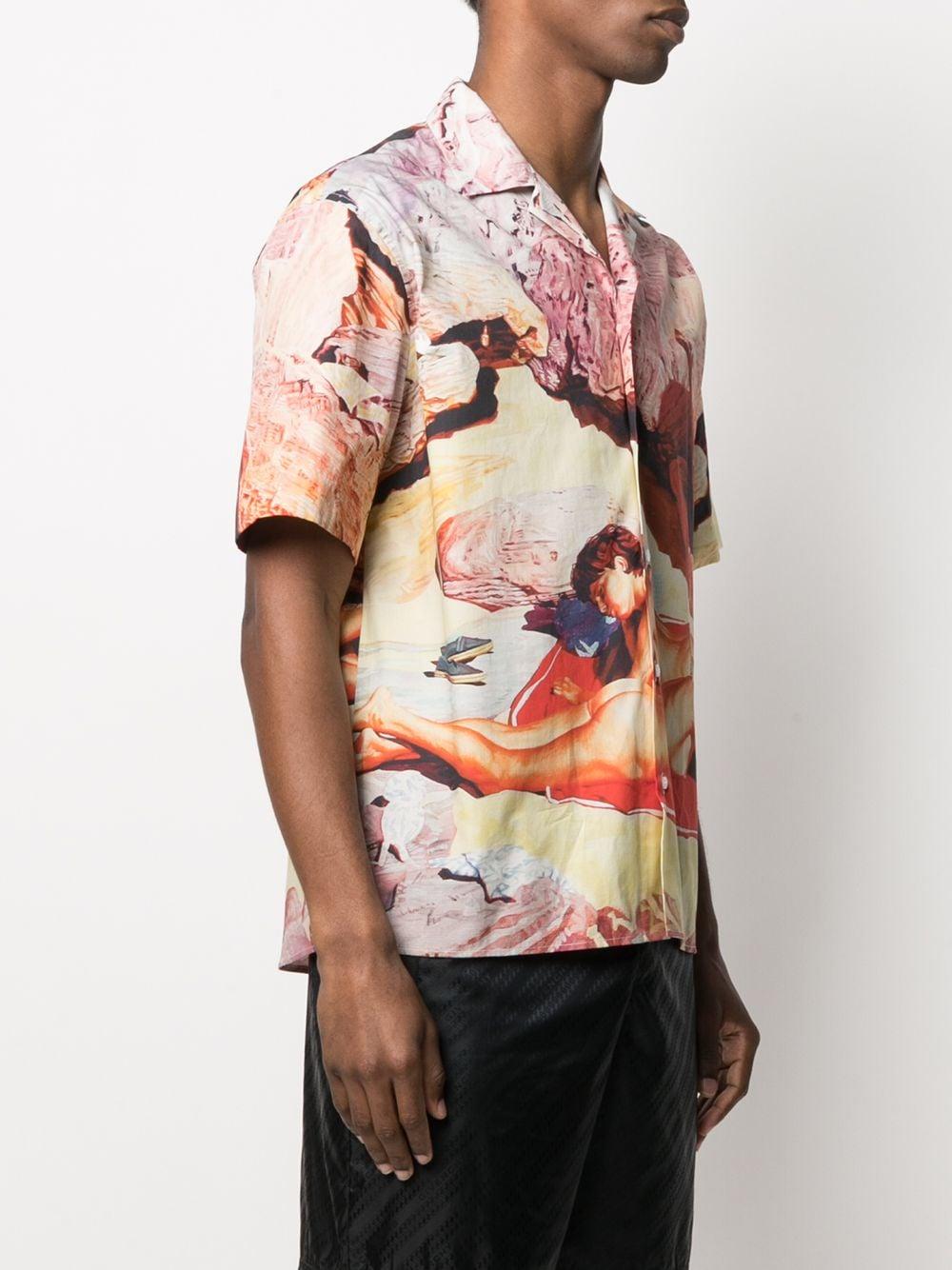 Msgm camicia con stampa uomo MSGM   Camicie   3040ME15 21702023