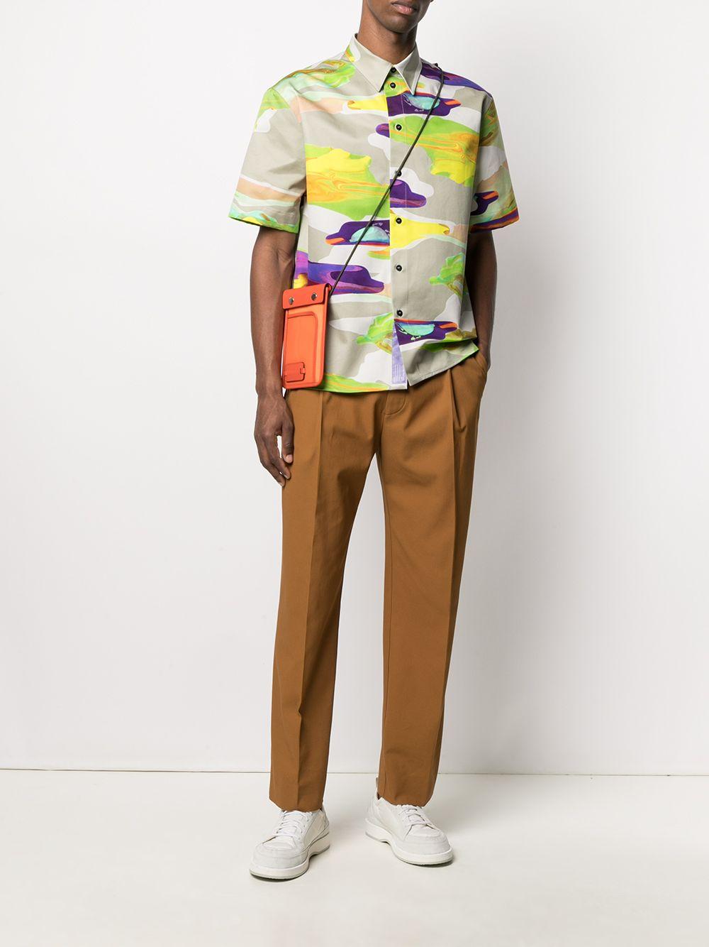 Camicia Con Stampa Uomo MSGM | Camicie | 3040ME22X 21701023
