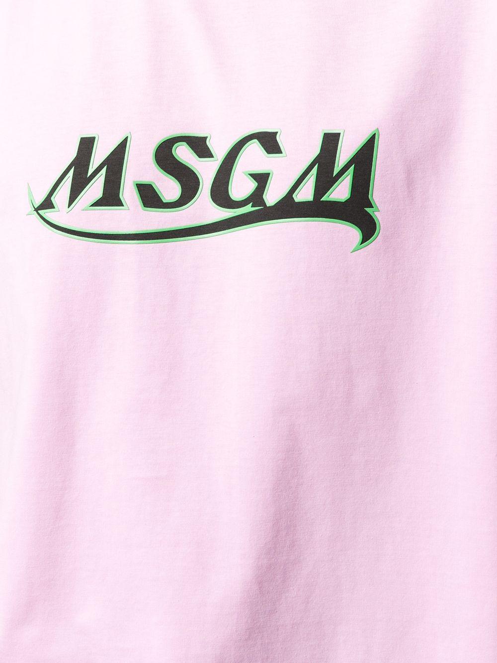 T-Shirt In Cotone Con Logo Uomo MSGM | T-shirt | 3040MM169 21709812