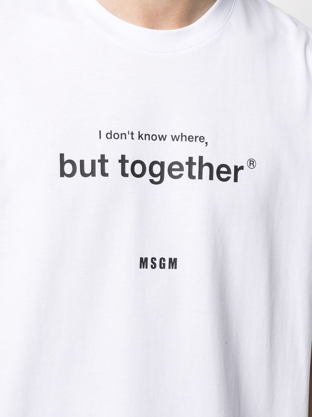 T-Shirt Con Stampa Uomo MSGM | T-shirt | 3040MM182 21709801