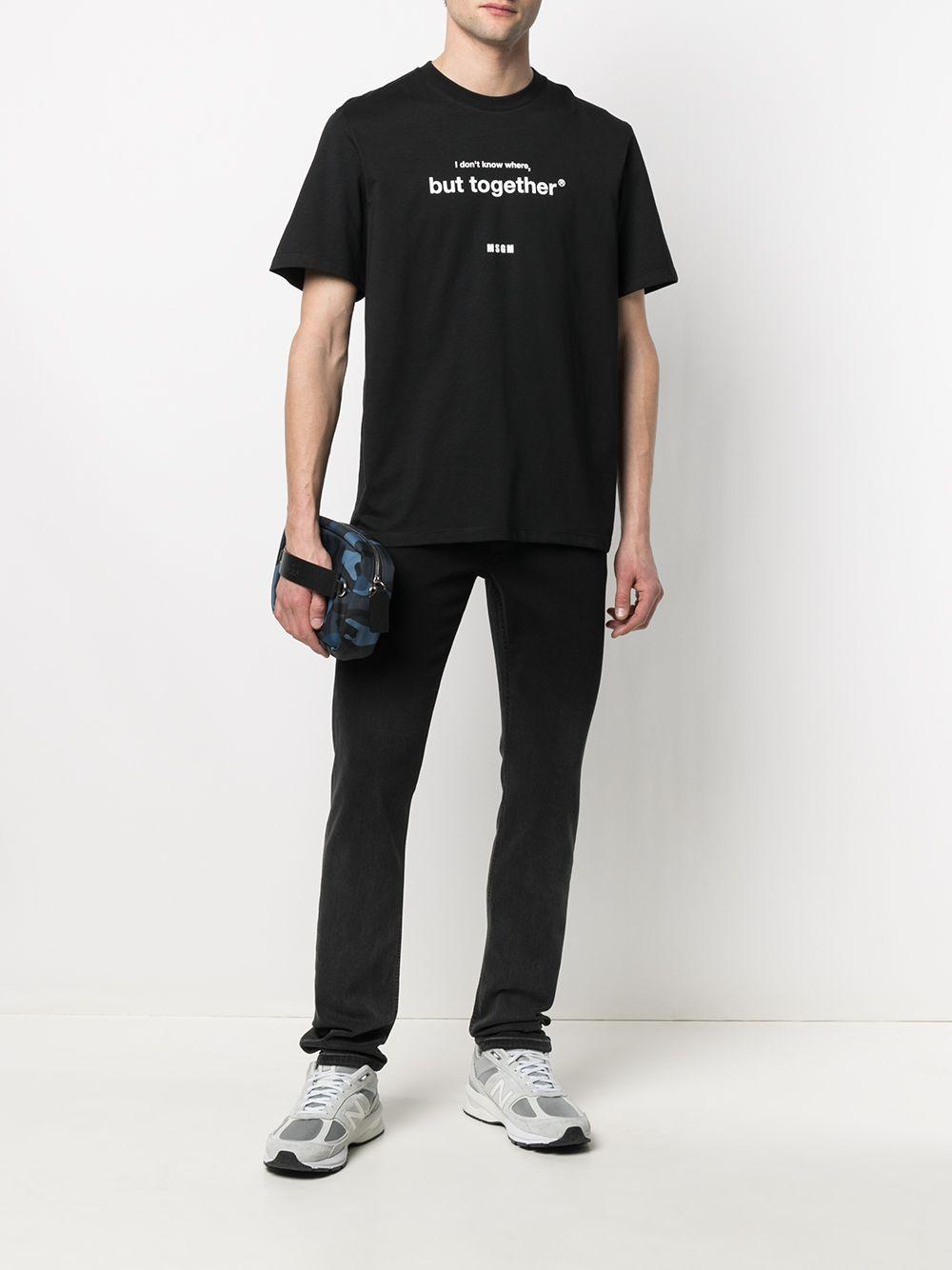 PRINT T-SHIRT MSGM | T-shirts | 3040MM182 21709899