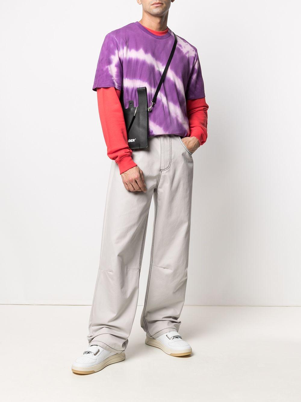 Msgm t-shirt in cotone tie dye uomo MSGM | T-shirt | 3040MM183 21709472