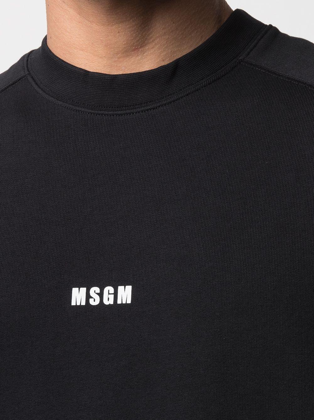 Msgm felpa a girocollo con logo uomo MSGM | Felpe | 3040MM69 21709999