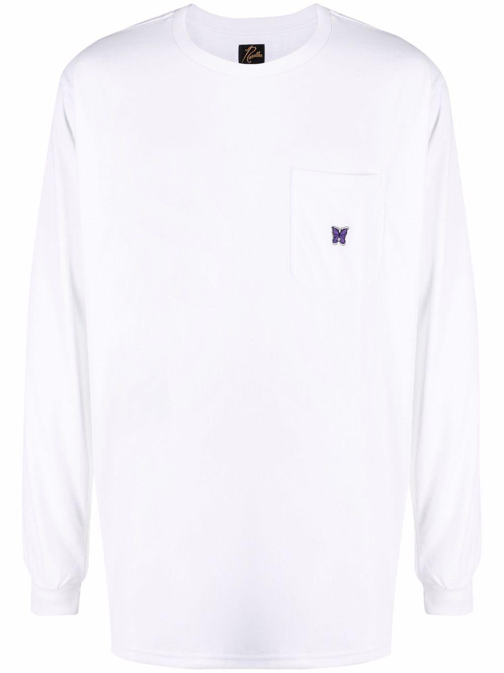 Needles t-shirt manica lunga pocket uomo bianco NEEDLES   T-shirt   IN207WHITE