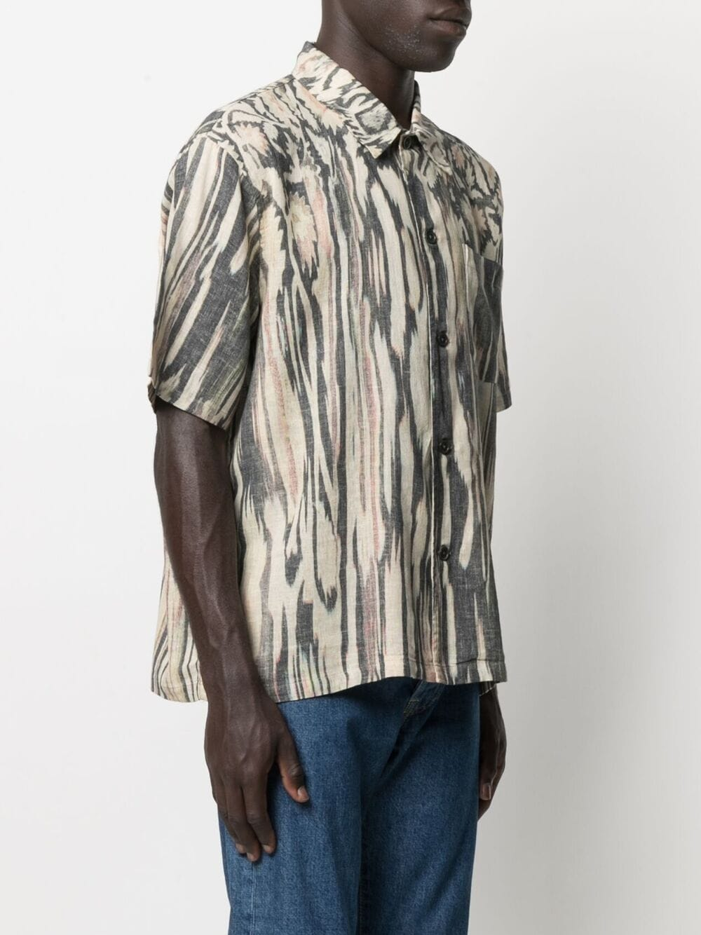 Our Legacy camicia con stampa astratta uomo multicolore OUR LEGACY | Camicie | M2212BSHPHANABI