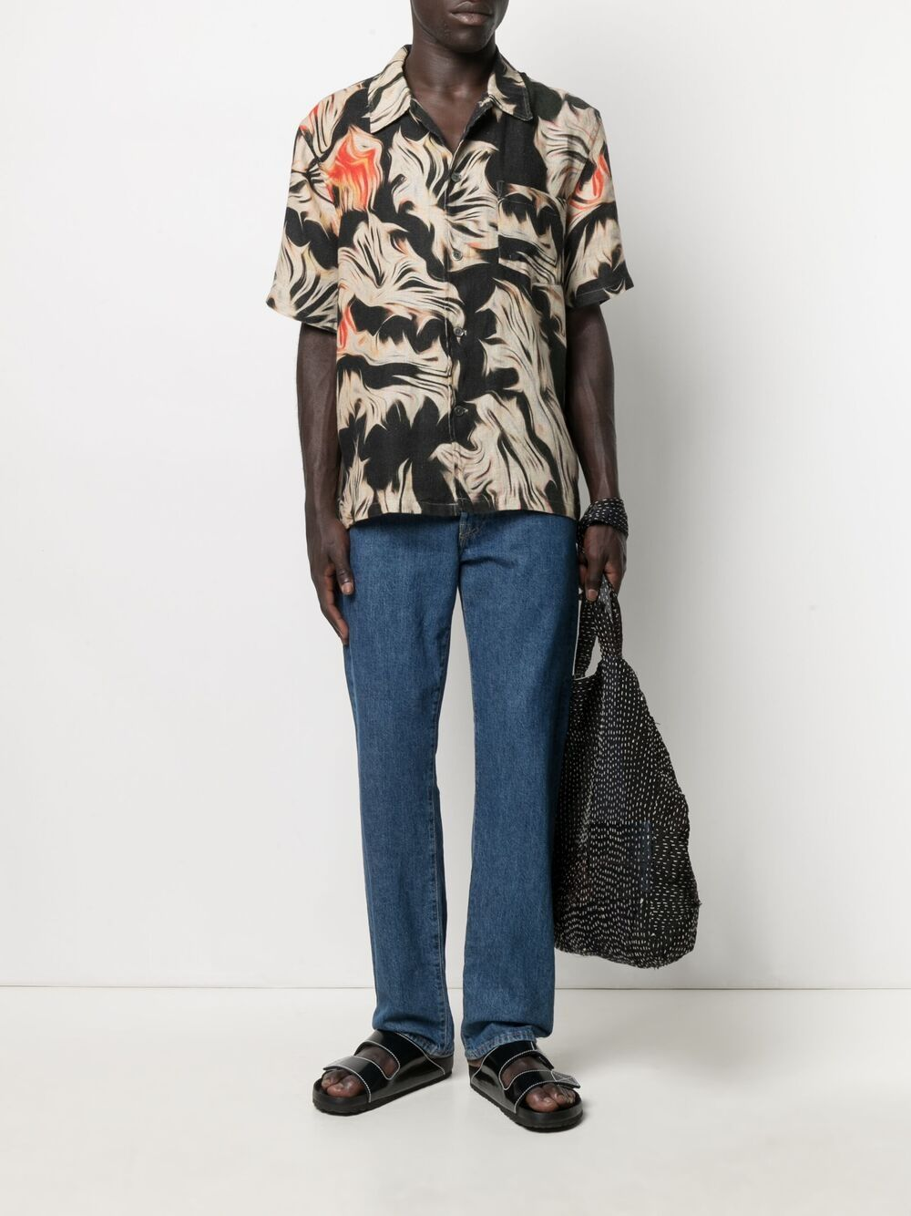 Our Legacy abstract print short sleeve shirt man multicolor OUR LEGACY | Shirts | M2212BSPPPLATIGYRA