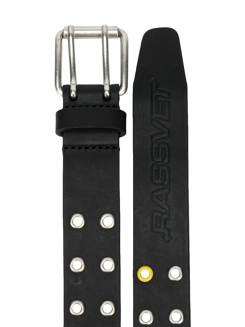 Rassvet leather eyelets belt man black RASSVET | Belts | PACC8K008BLACK