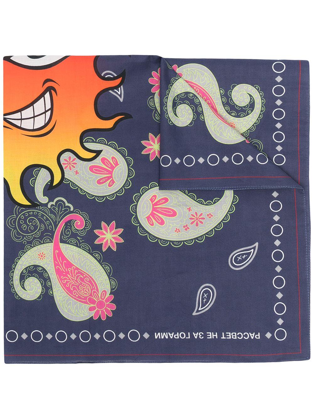 Sciarpa Con Stampa Multicolore Uomo in Cotone RASSVET   Sciarpe   PACC8K009NAVY