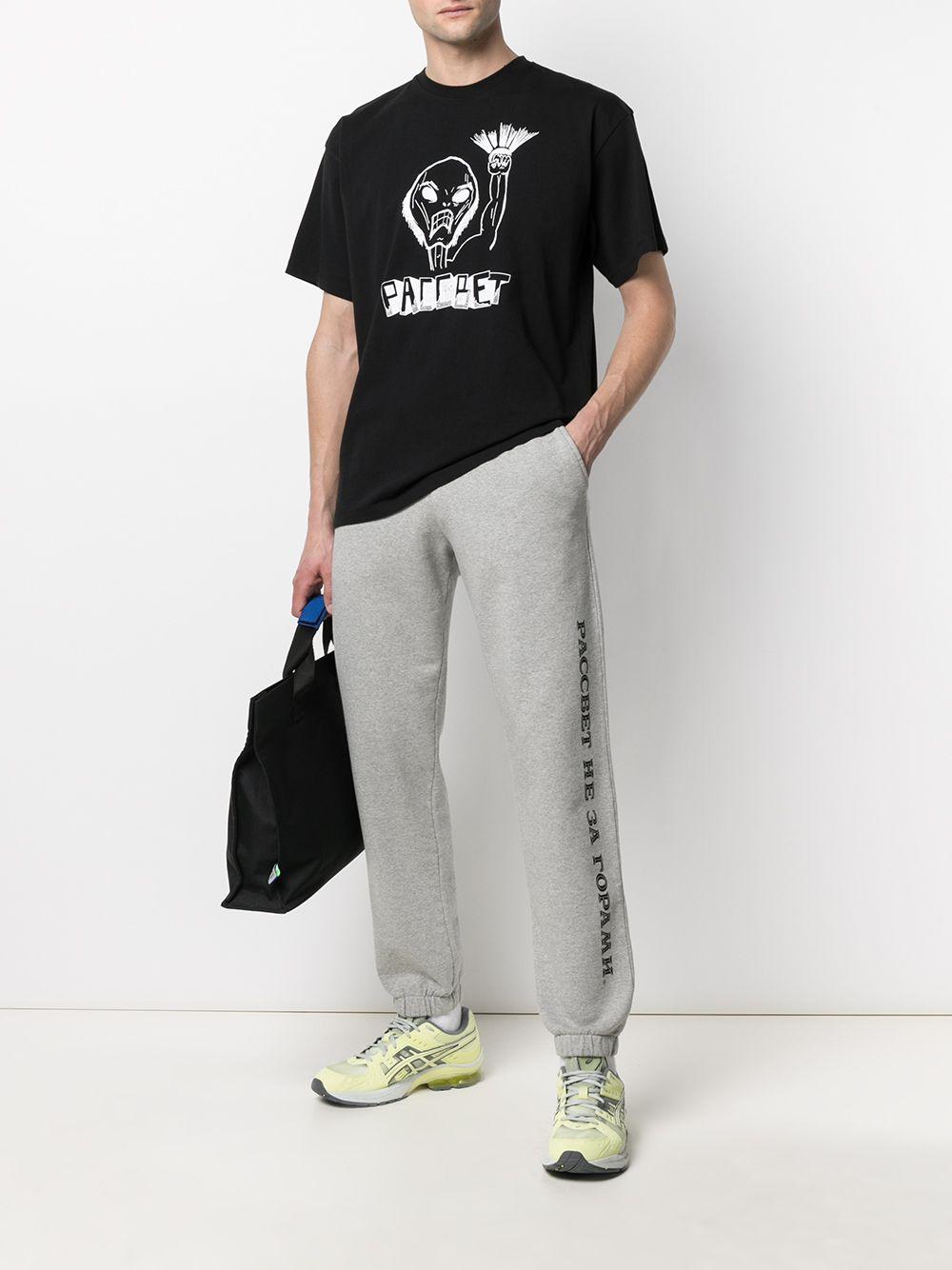 Rassvet t-shirt con stampa uomo RASSVET | T-shirt | PACC8T003BLACK