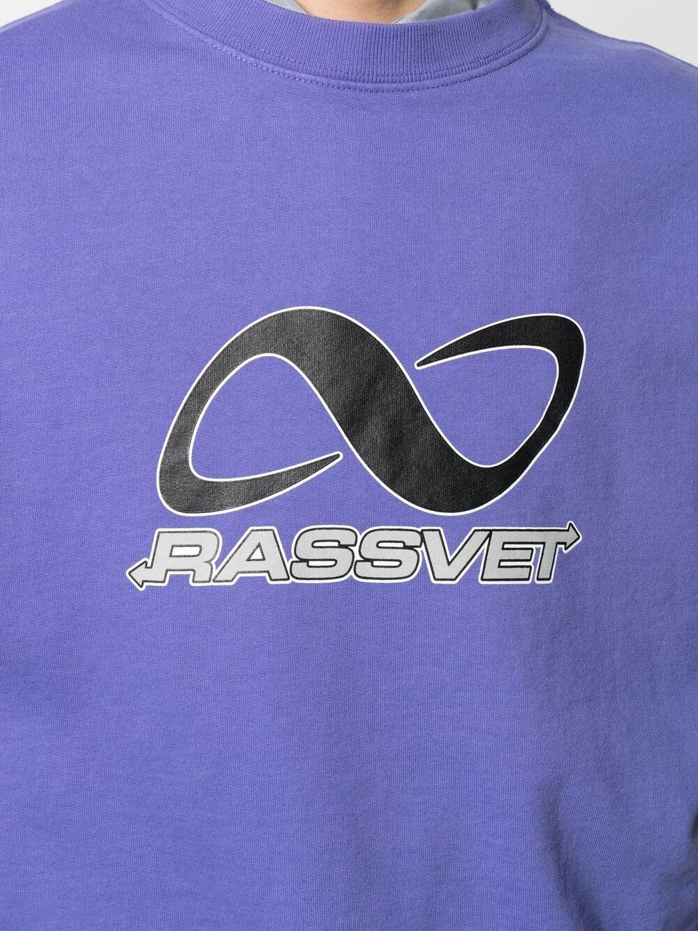 Rassvet felpa con stampa uomo viola RASSVET | Felpe | PACC8T027BLUE