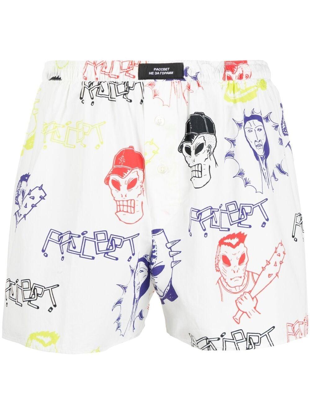 RASSVET | Shorts | PACC8UW02HARDOCORE PRINT