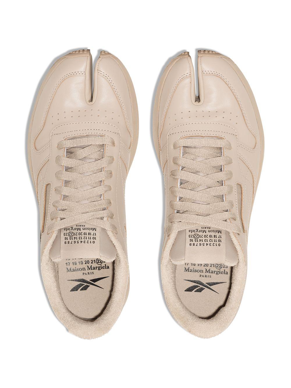 Sneakers Project 0 cl Crema in Pelle Uomo REEBOK X MAISON MARGIELA   Sneakers   GX5141MODBEI