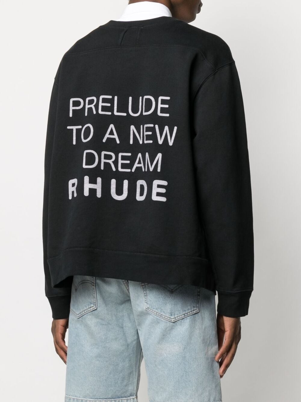Rhude print sweatshirt man black RHUDE | Sweatshirts | RHPS21SW0015
