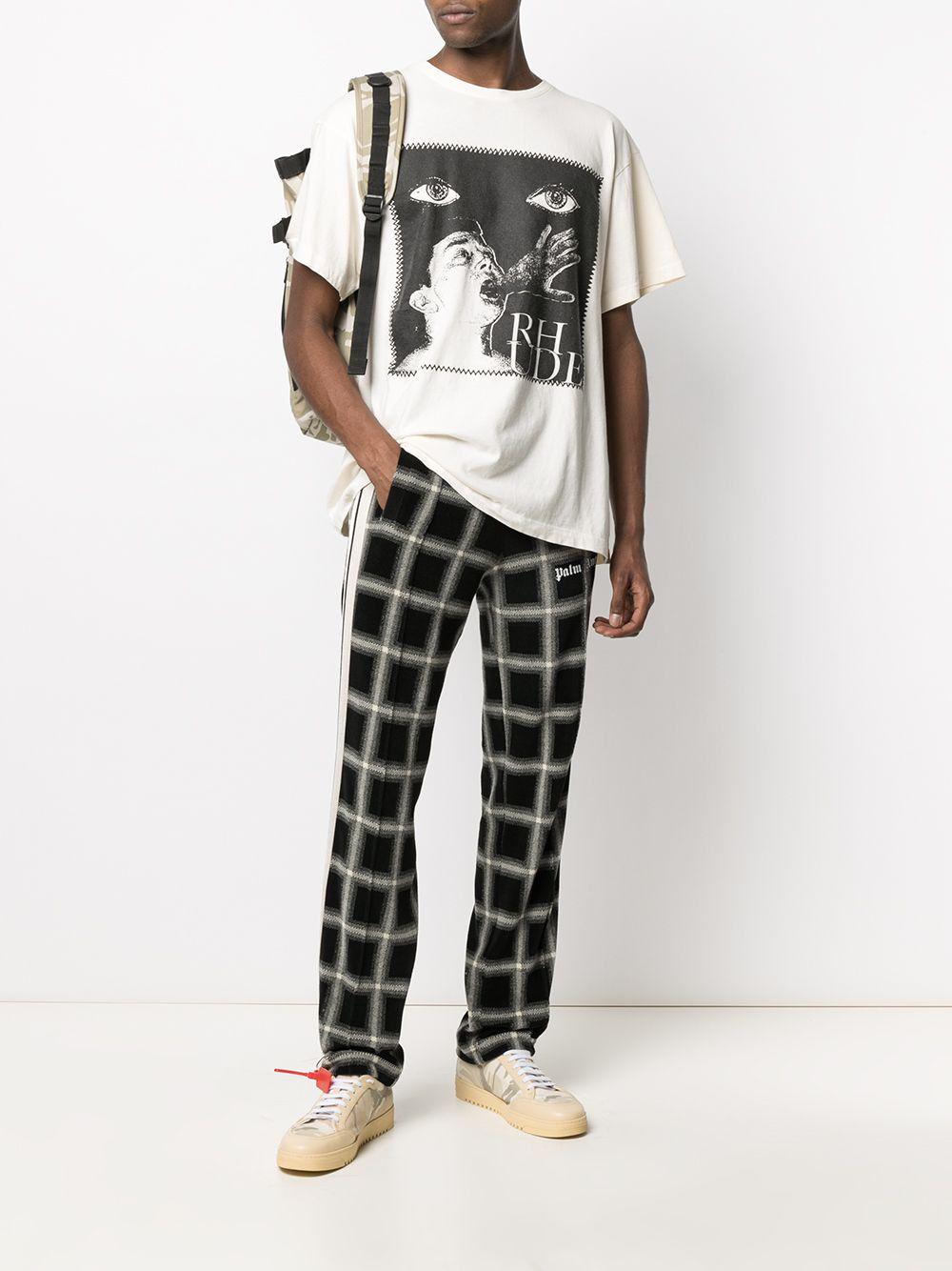 print t.shirt man white in cotton RHUDE | T-shirts | RHPS21TT110053