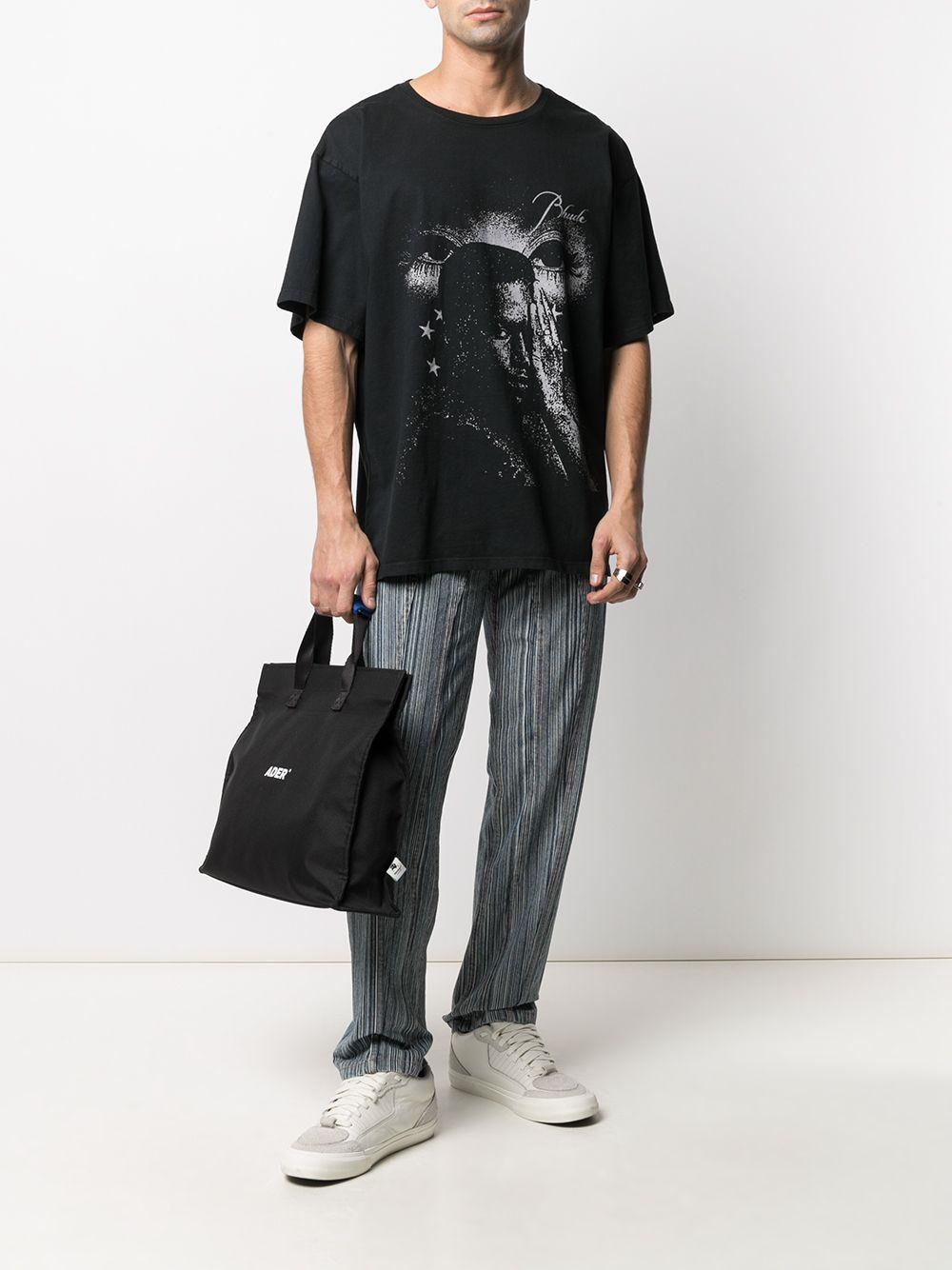 Rhude print t-shirt man black RHUDE | T-shirts | RHPS21TT30015
