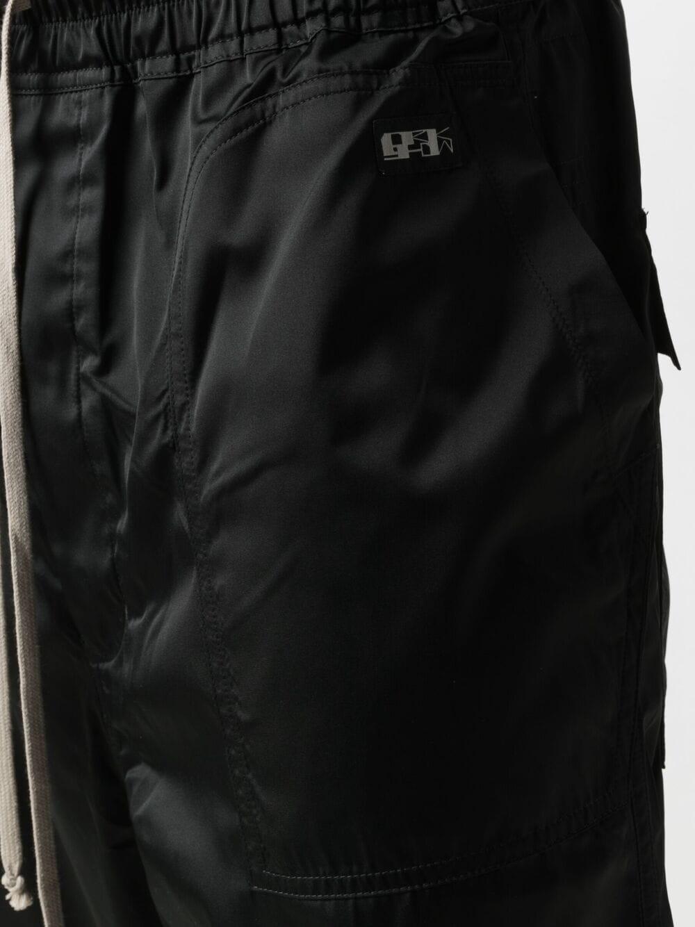 Rick Owens Drkshdw bermuda a cavallo basso uomo nero RICK OWENS DRKSHDW | Bermuda | DU21S2368 TAR09