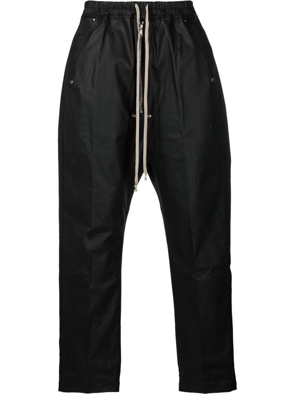 Rick Owens Drkshdw pantaloni a cavallo basso uomo nero RICK OWENS DRKSHDW | Pantaloni | DU21S2377 TWR09