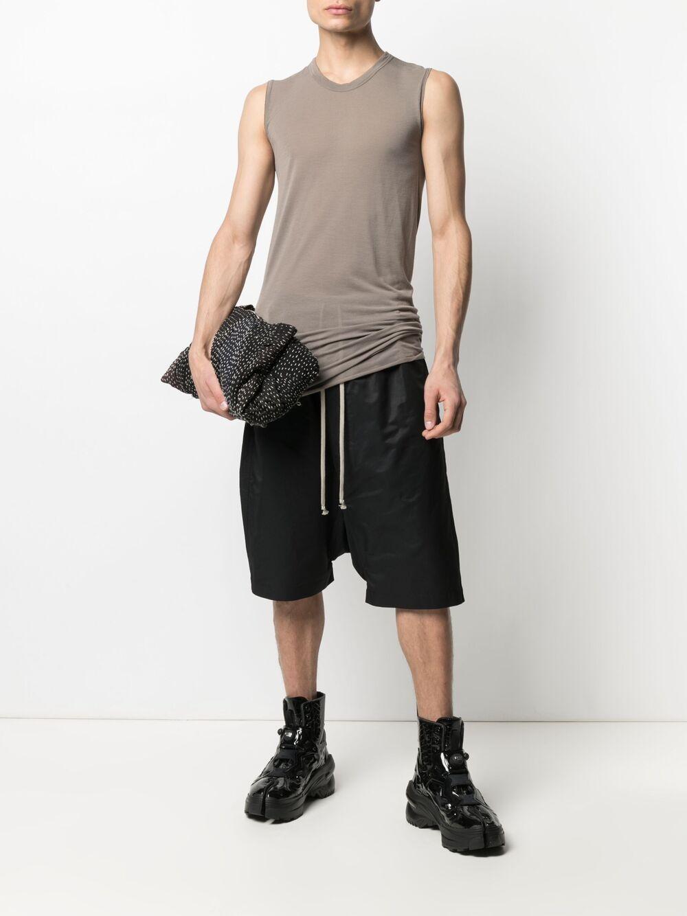Drawstring pants black man cotton RICK OWENS DRKSHDW   Shorts   DU21S2380 CN09