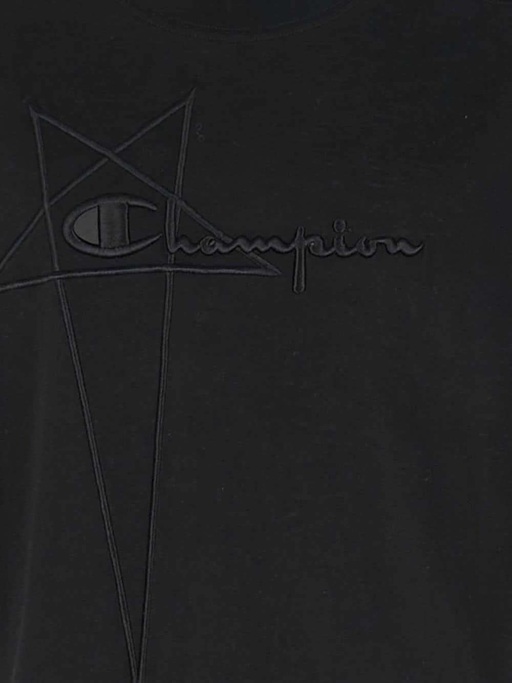 Rick Owens X Champion logo t-shirt man black RICK OWENS X CHAMPION | T-shirts | CM21S0010 21676209