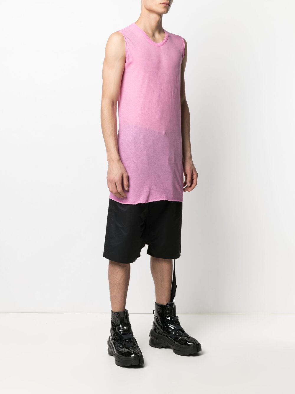 ELONGATED TANK TOP RICK OWENS | T-shirts | RU21S6151 UC183
