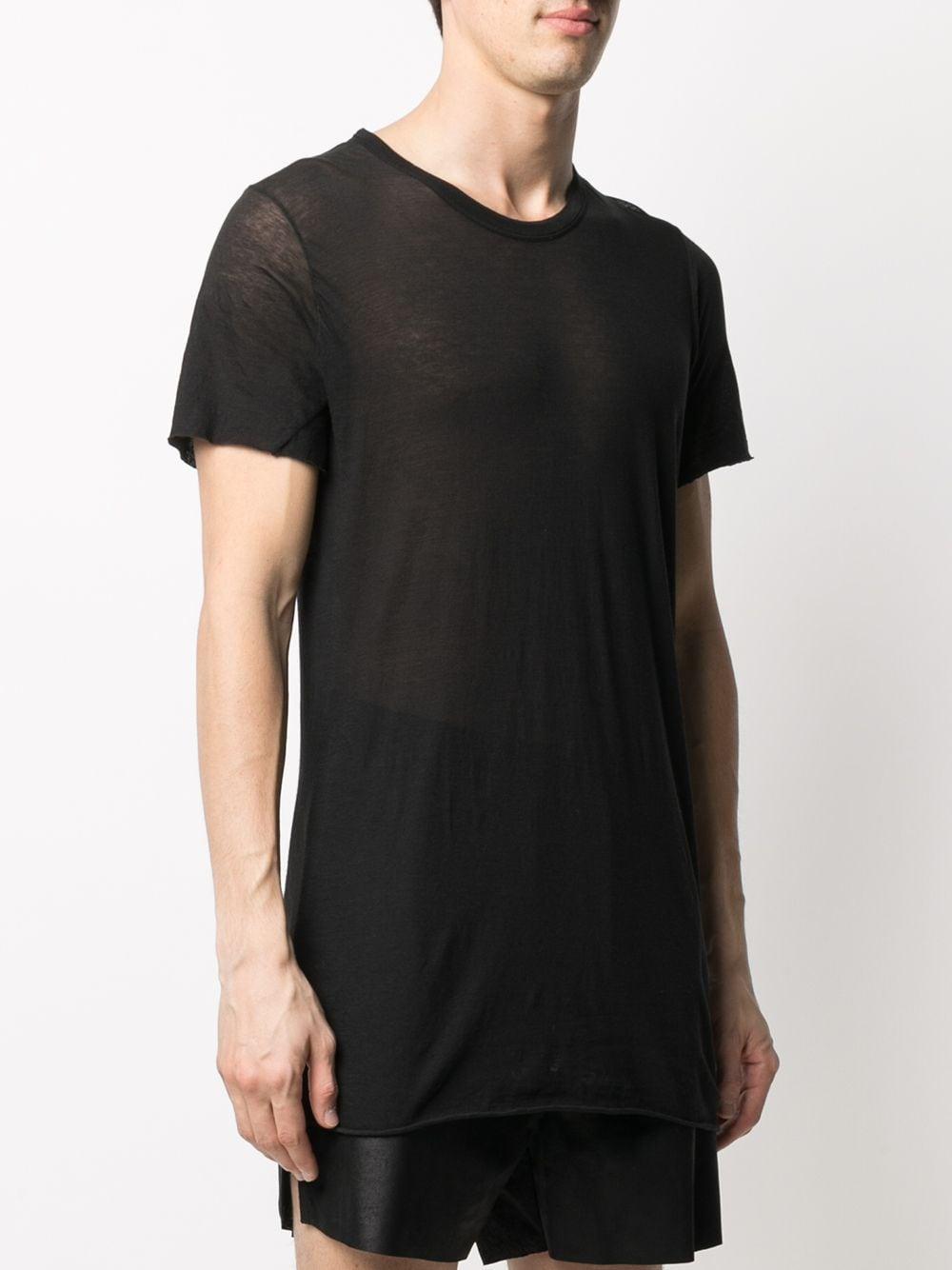 T-Shirt Semi-Trasparente Nero Uomo Cotone RICK OWENS | T-shirt | RU21S6251 UC09