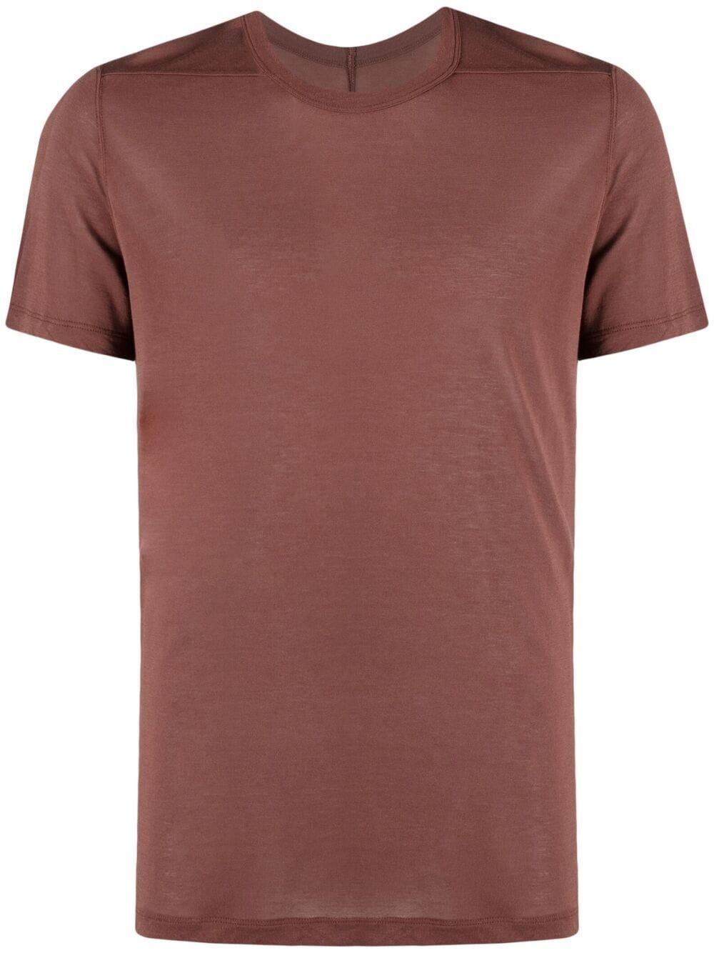 T-shirt seta uomo marrone RICK OWENS | T-shirt | RU21S6265 JS23