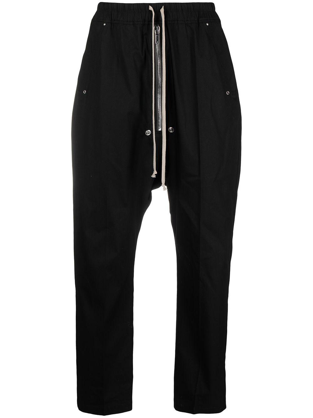 ZIP DETAIL DRAWSTRING TROUSERS RICK OWENS   Trousers   RU21S6361 TE09