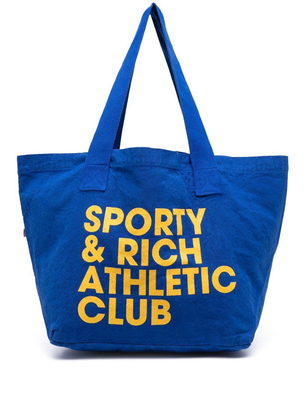 Sporty & Rich borsa con logo stampato unisex blu SPORTY & RICH | Borse | AC082RB