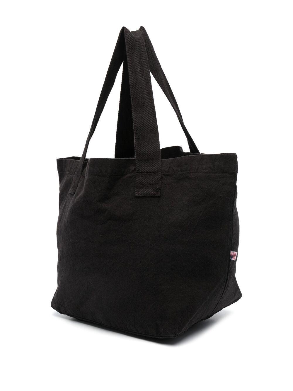 Sporty & Rich logo printed bag unisex black SPORTY & RICH | Bags | AC143BK
