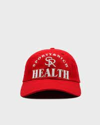 Ball game Hat Red Unisex Cotton SPORTY & RICH   Hats   AC162SR