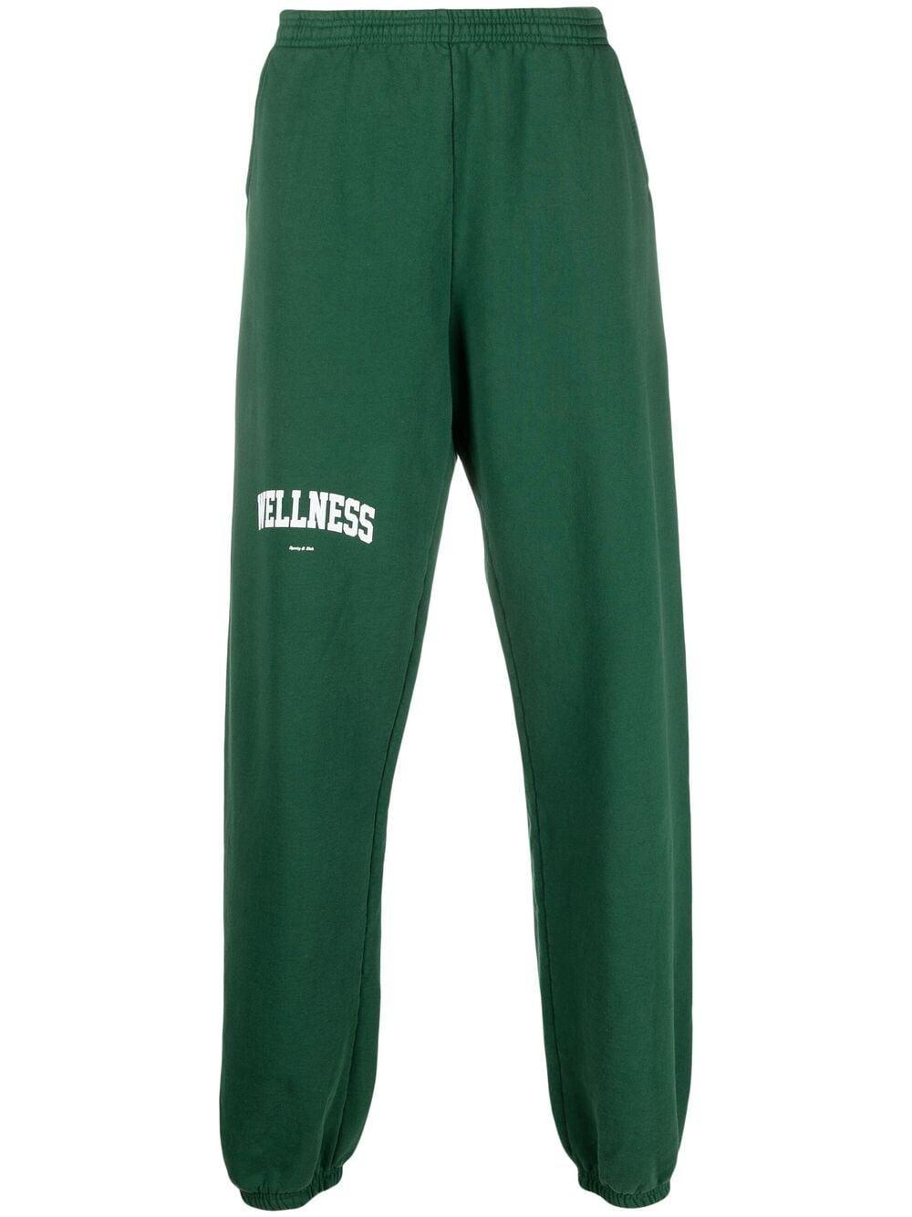 Sporty & Rich pantaloni con stampa logo unisex verde SPORTY & RICH | Pantaloni | SW091BR
