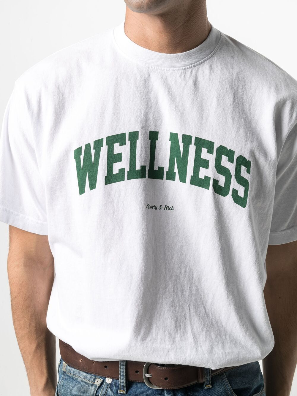 Sporty & Rich wellness t-shirt unisex white SPORTY & RICH | T-shirts | TS091WH