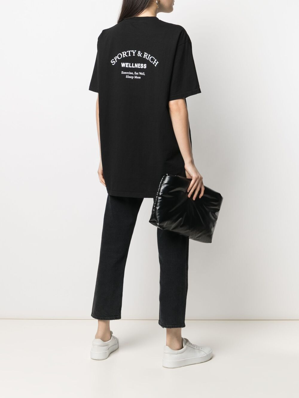 Sporty & Rich print t-shirt unisex black SPORTY & RICH | T-shirts | TS143BK
