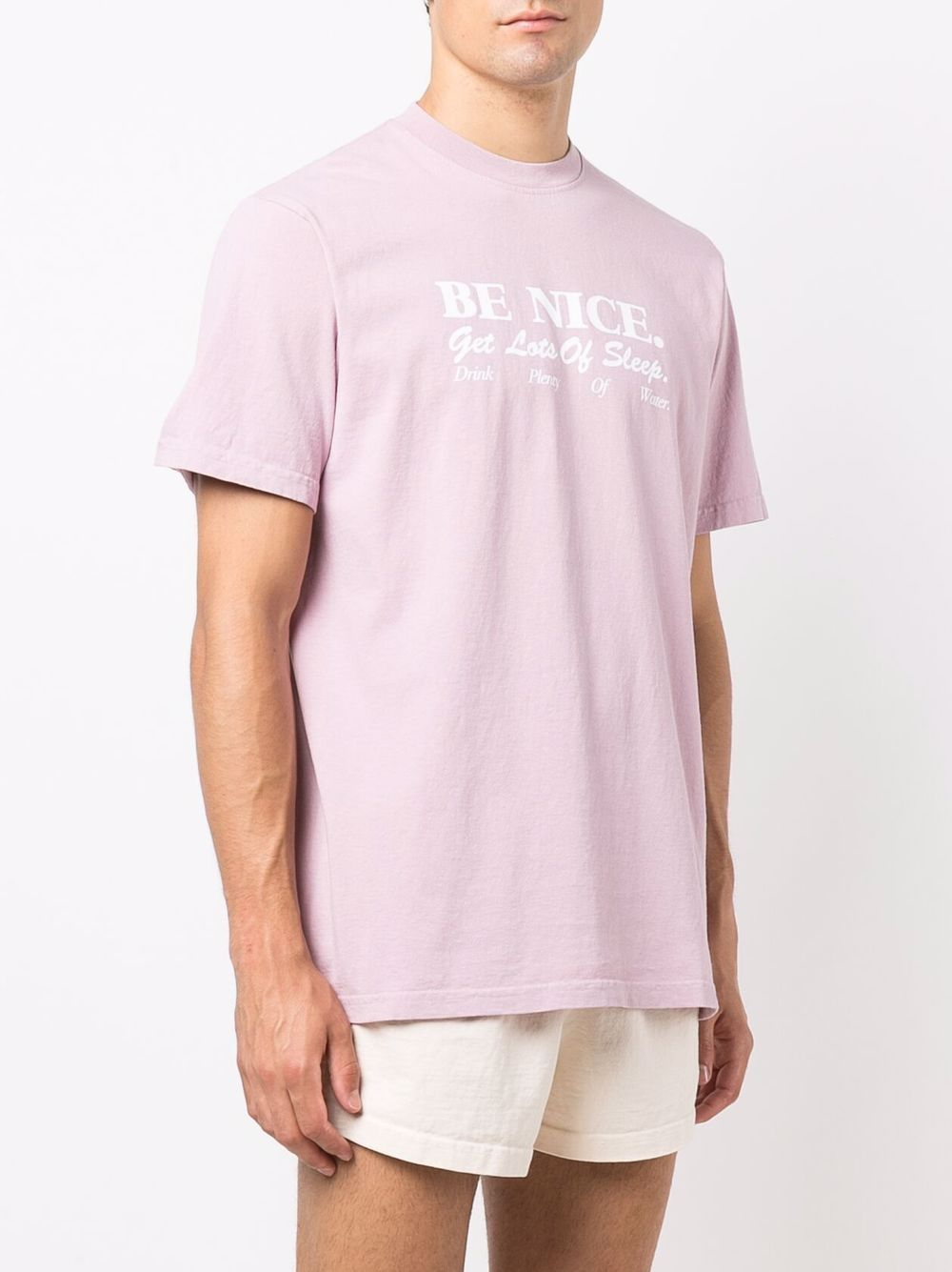 be nice t-shirt unisex pink in cotton SPORTY & RICH   T-shirts   TS182FN
