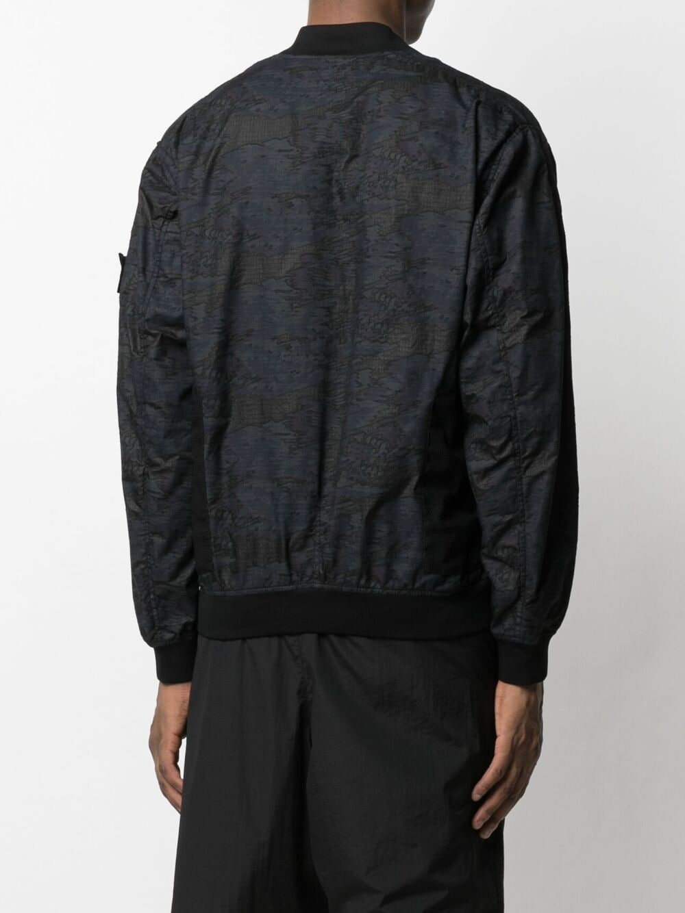 Stone Island Shadow Project mesh panelled bomber jacket man black STONE ISLAND SHADOW PROJECT | Jackets | 741940403V0029