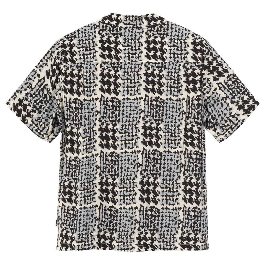 HAND DRAWN HOUNDSTOOTH SHIRT STUSSY | Shirts | 1110150OFF WHITE