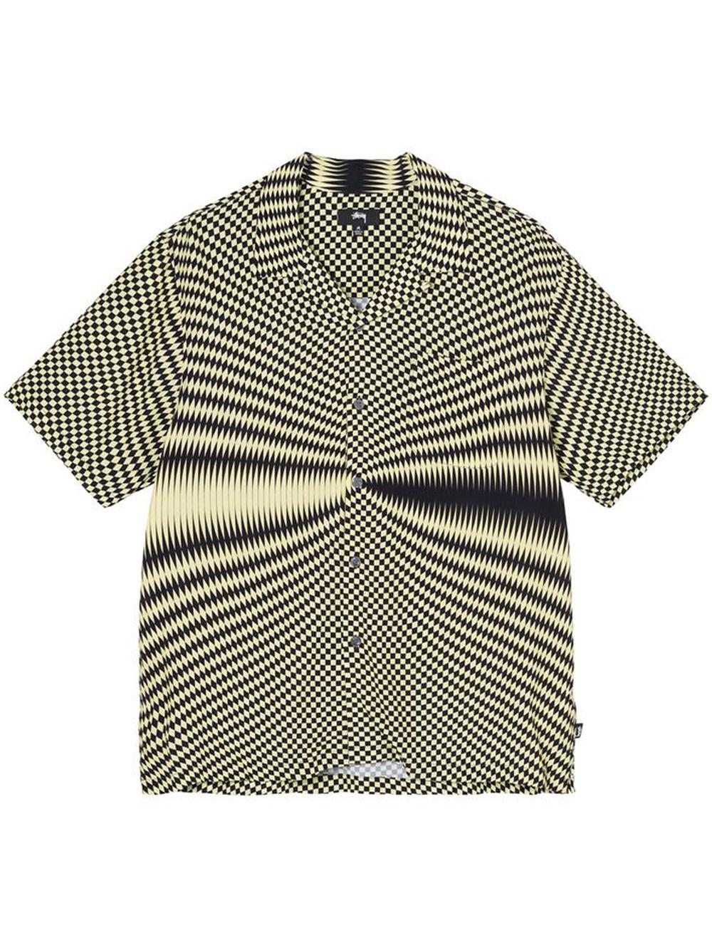 Camicia psichedelica Uomo Nera in Poliestere STUSSY   Camicie   1110165BLACK