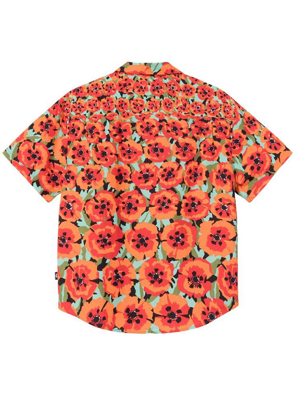 Poppy shirt Orange Man Cotton STUSSY   Shirts   1110166ORANGE