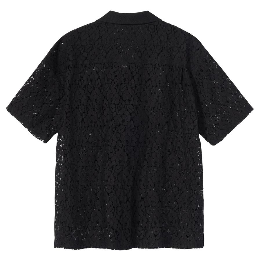Stussy camicia floral pattern lace uomo STUSSY | Camicie | 1110178BLACK