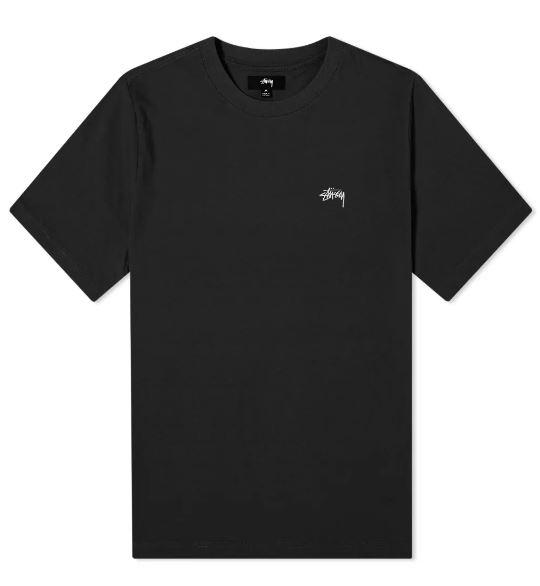 Logo t-shirt Black Man Cotton STUSSY | T-shirts | 1140241BLACK