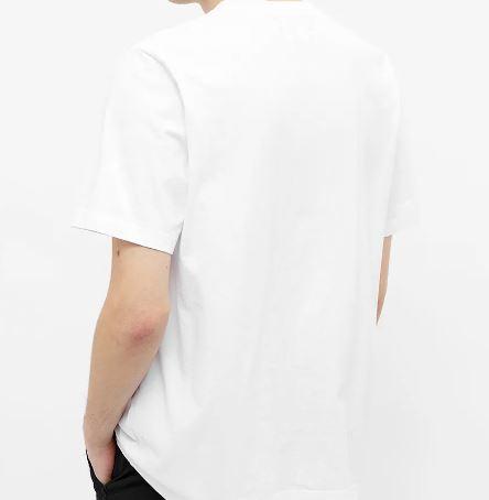 T-Shirt Con Logo Bianca Uomo in Cotone STUSSY   T-shirt   1140241WHITE