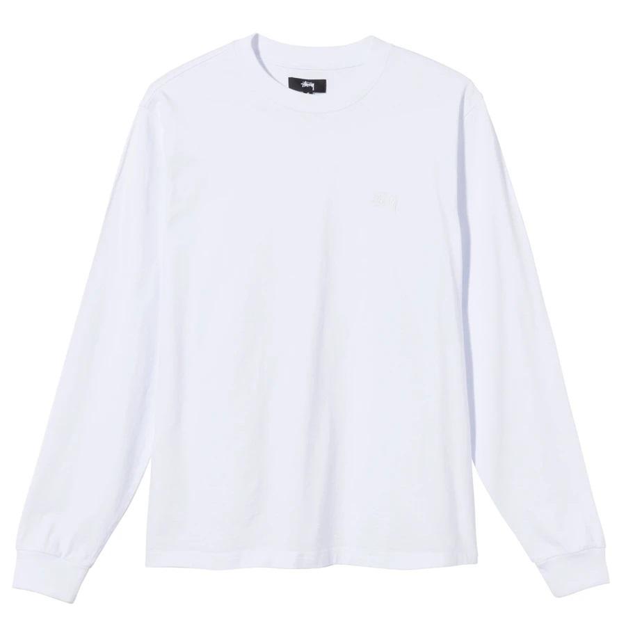 LONG SLEEVE LOGO STUSSY | T-shirts | 1140242WHITE