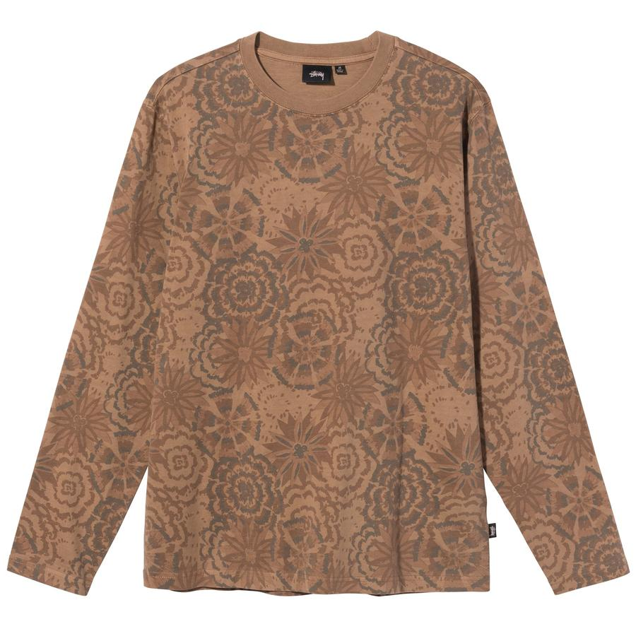 Stussy t-shirt manica lunga con fiori uomo STUSSY | T-shirt | 1140246BROWN